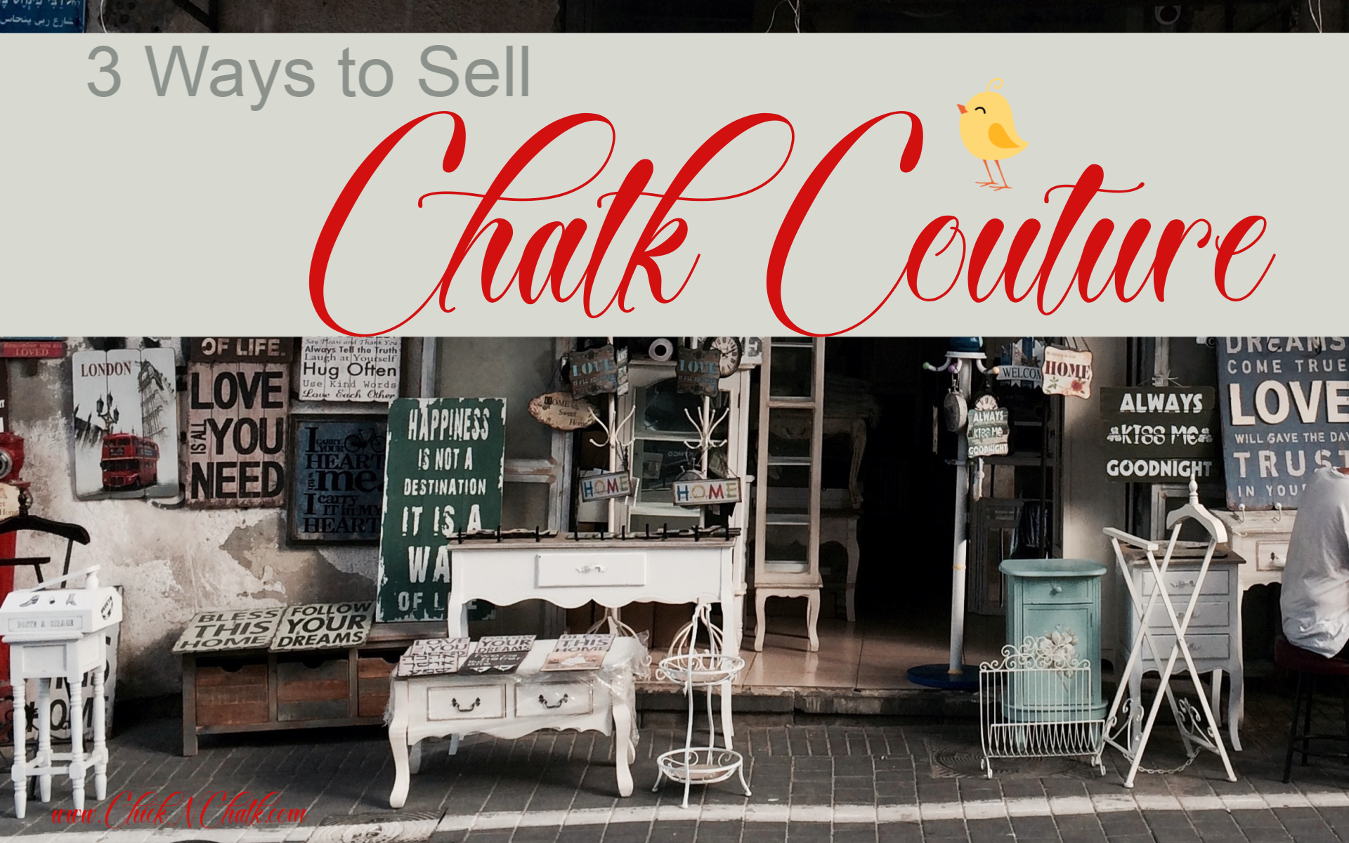 Ways to Sell Chalk Couture in Canada