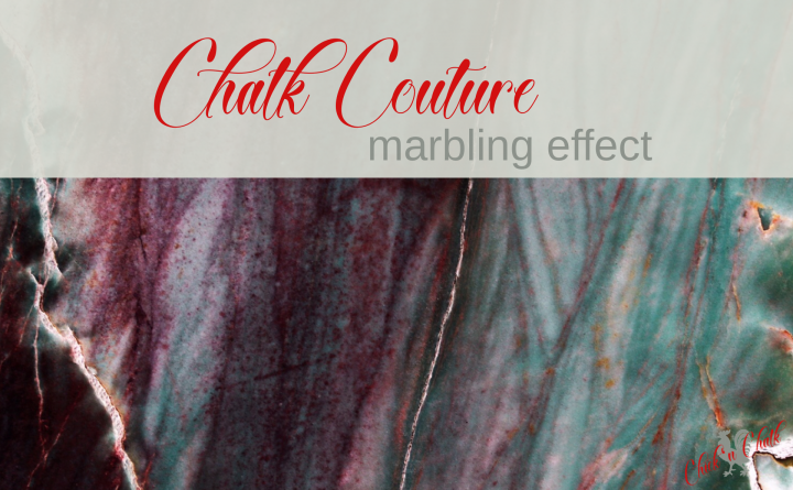 Chalk Couture marbling effect