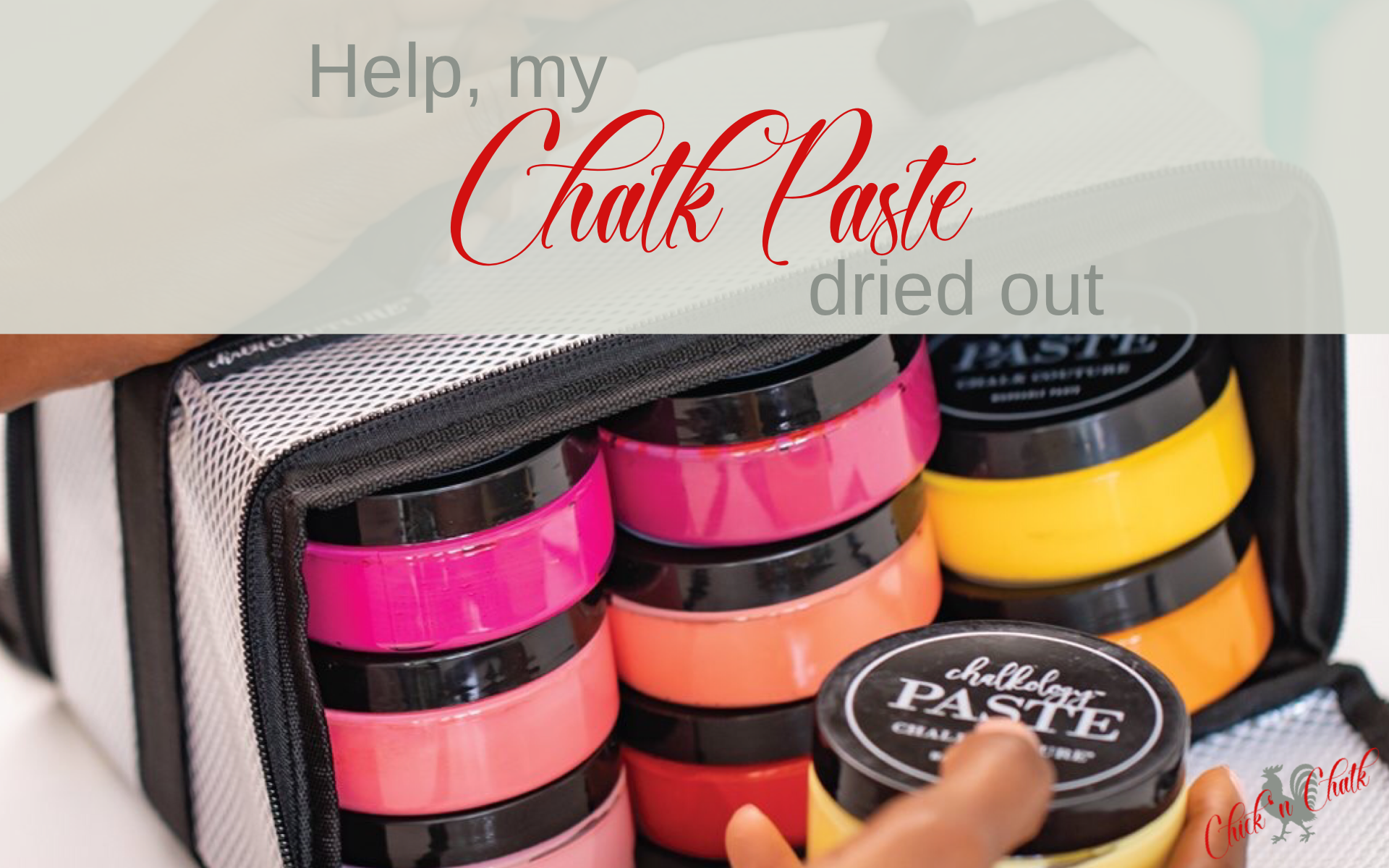 Chalk paste dried out