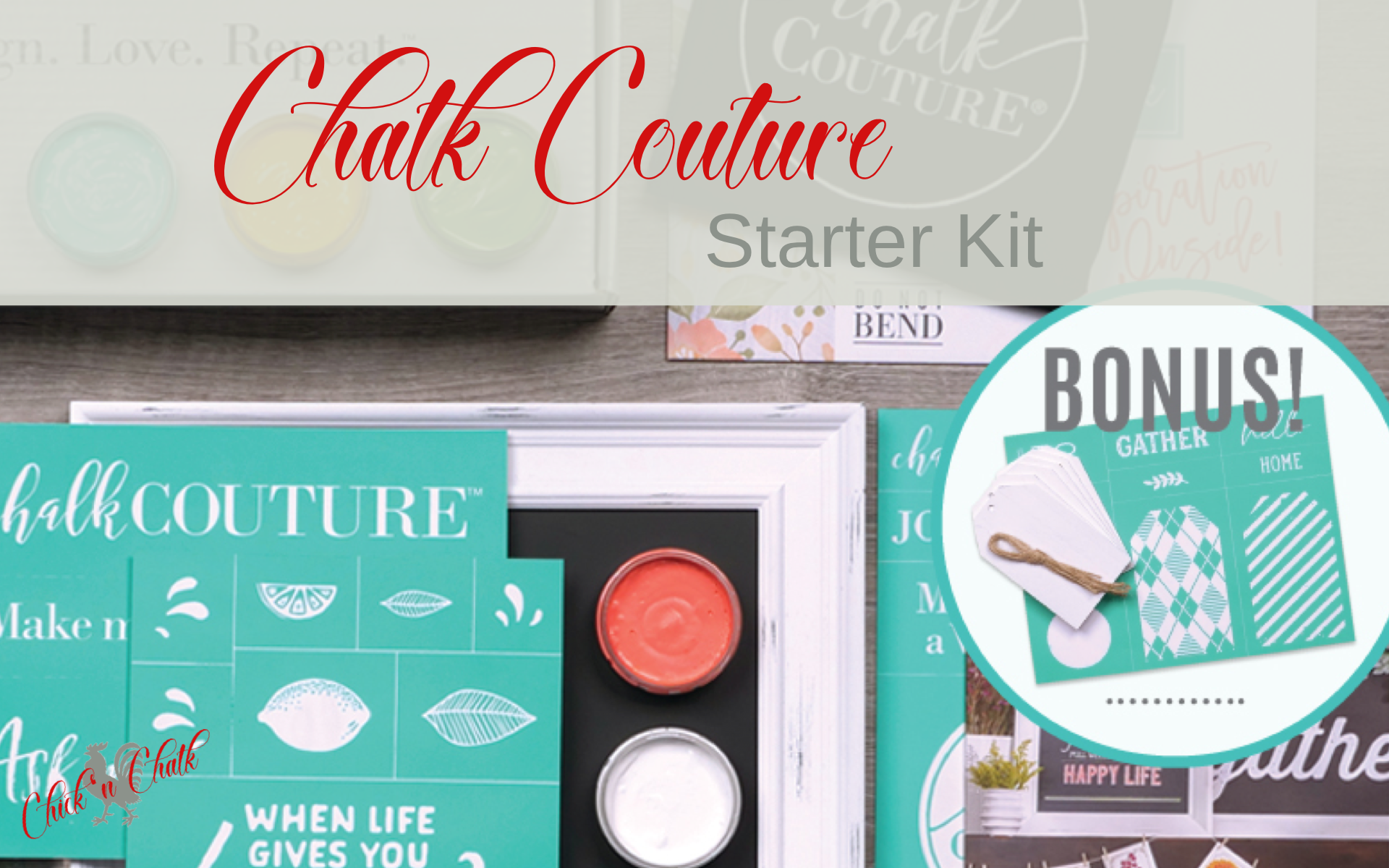Chalk Couture Starter Kit and April Triple Treat 1