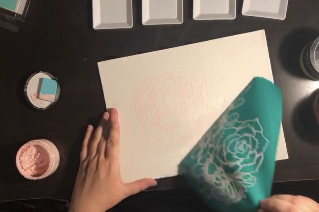 Chalk Couture Watercolour; Beautiful and Easy 4