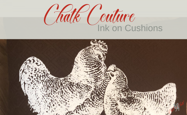 Chalk couture ink on cushions