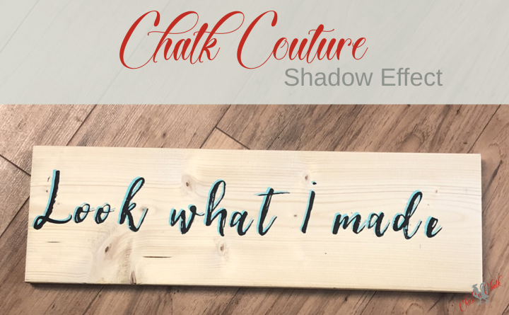 Shadow Effect with Chalk Couture Transfers